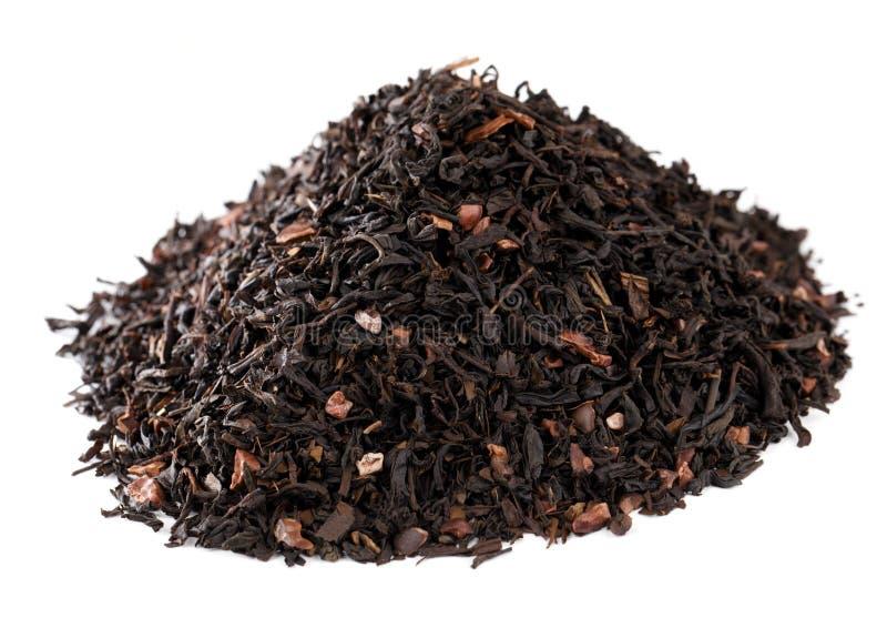 Kaffeeähnlicher Gehilfentee hineingegossen mit Schokolade stockfotos