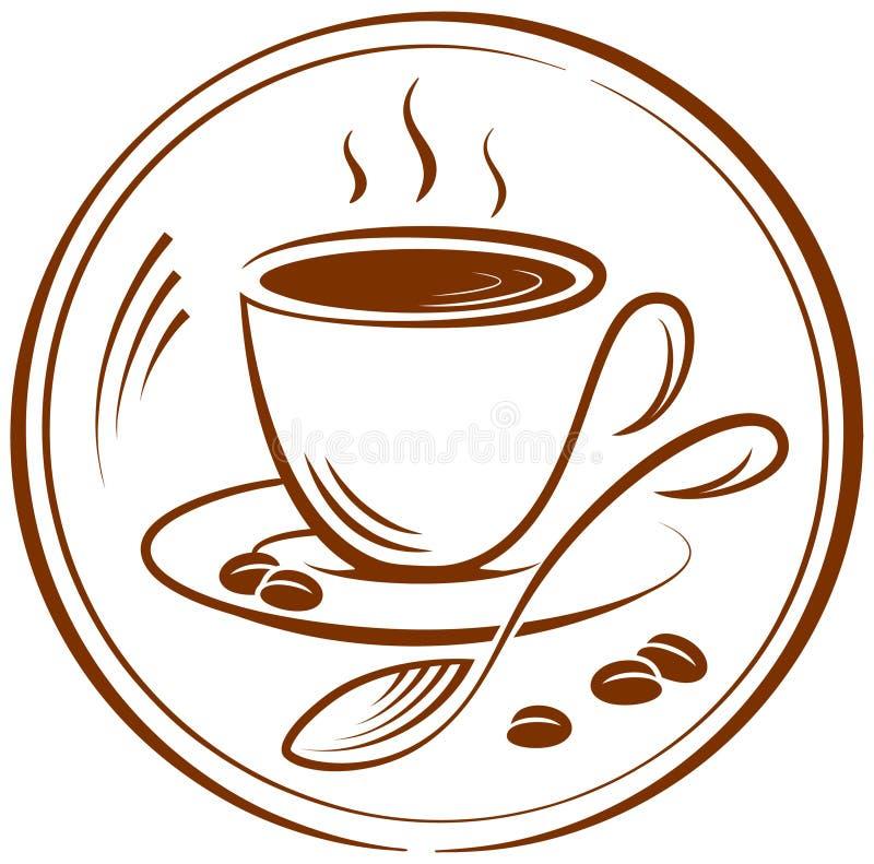 Kaffee vektor abbildung. Illustration von einfarbig ...