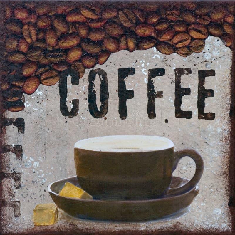 Kaffee-Abbildung stock abbildung