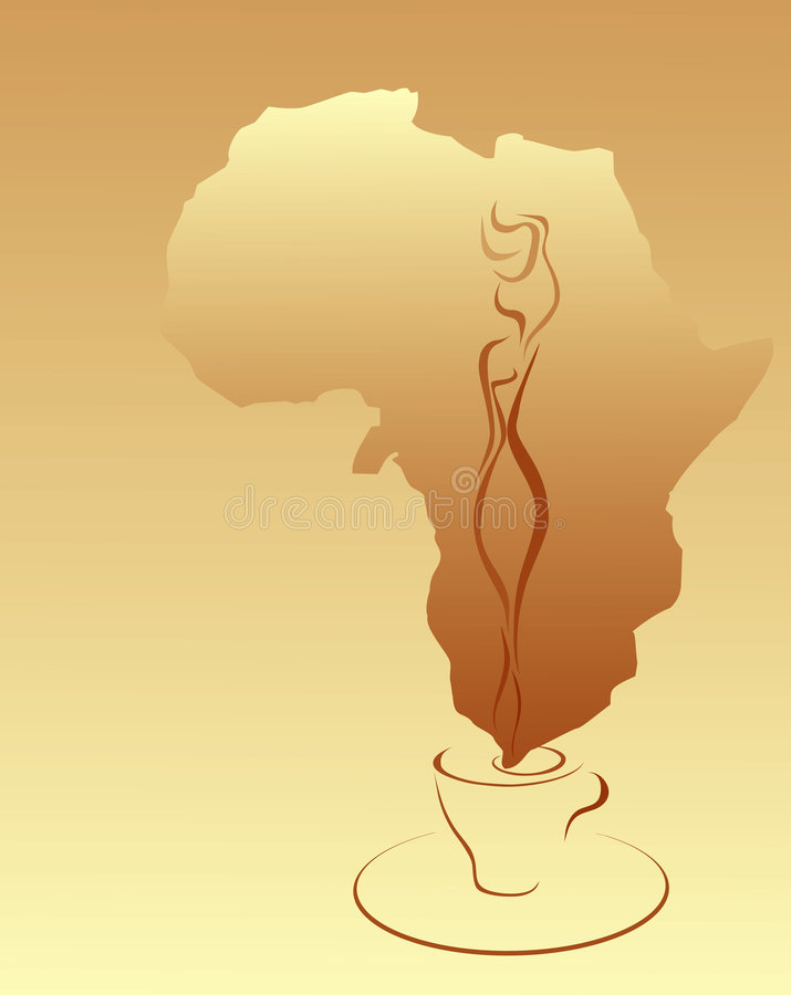 Kaffee Afrika stock abbildung
