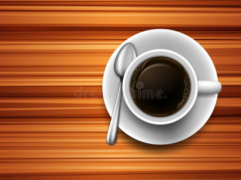 Kaffee auf einer Tabelle stock abbildung