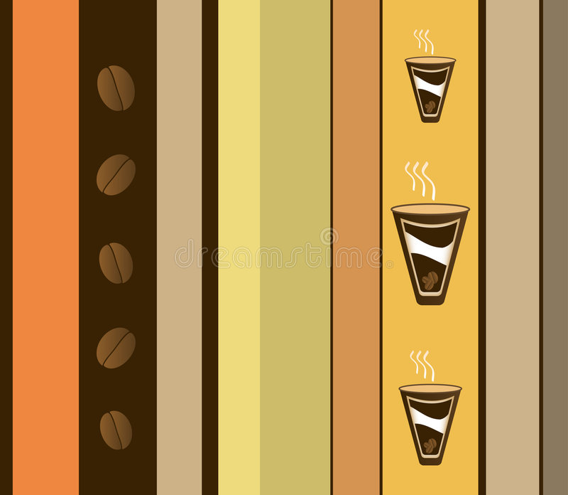 Kaffee-Auslegung vektor abbildung