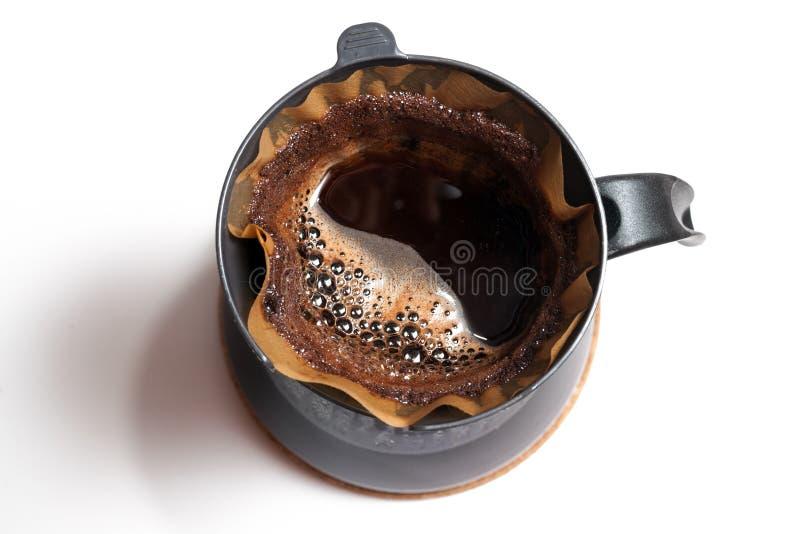 Kaffee Beeing gefiltert stockfoto