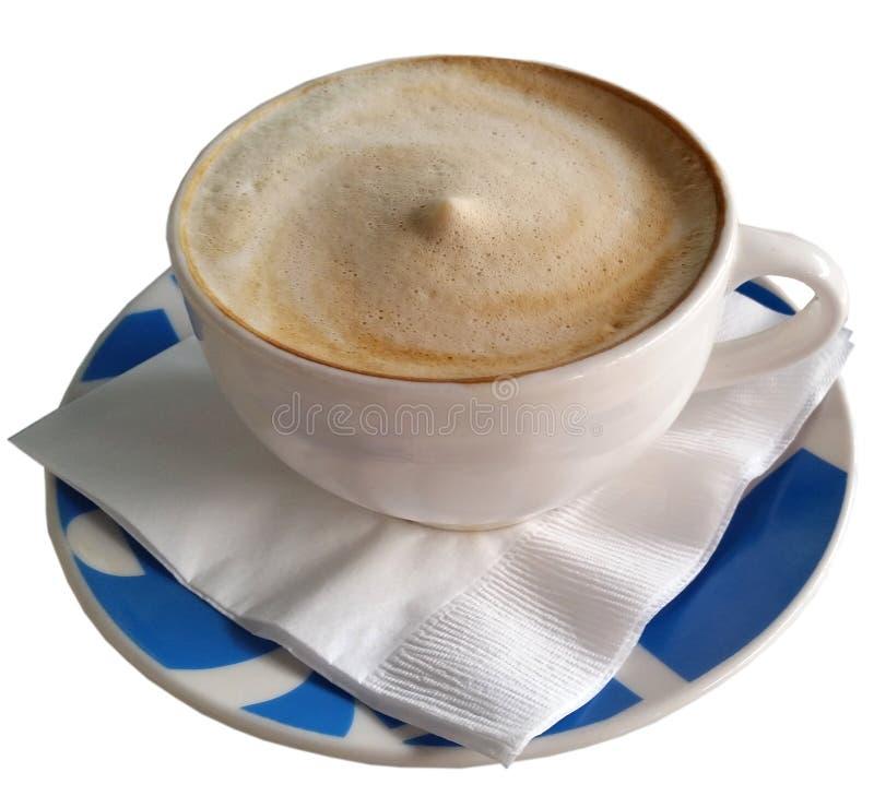 Kaffee in blauer Schale 2 stockbilder