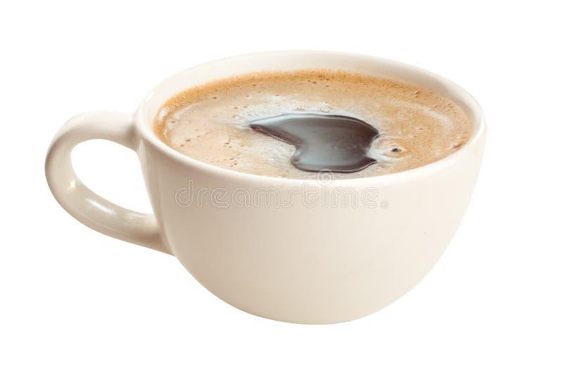 Kaffee in der Kaffeetasse mit natürlichen Körnern stockfoto