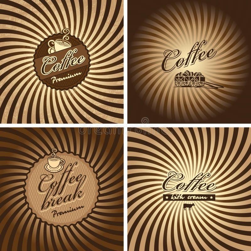 Kaffee in der Retro- Art stock abbildung