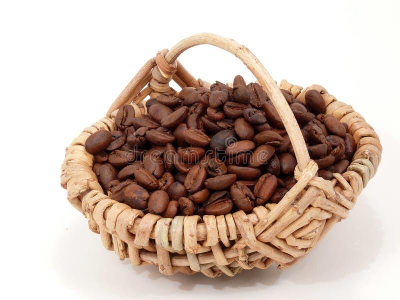 Kaffee in einem Korb stockfoto