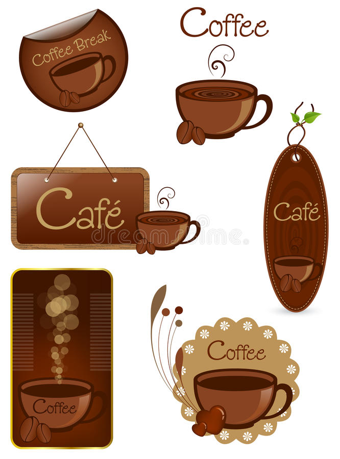 Kaffee-Elemente vektor abbildung