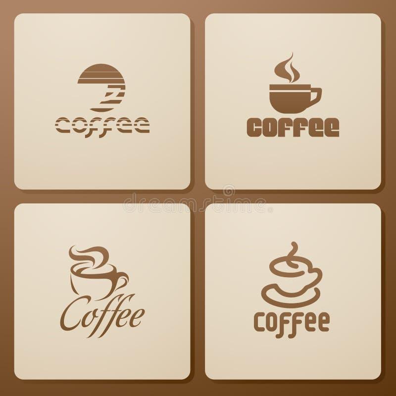 Kaffee. Elemente für Auslegung. stock abbildung