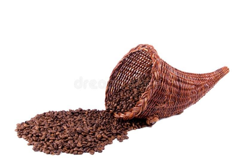 Kaffee-Fülle-Landschaftsseite stockbild