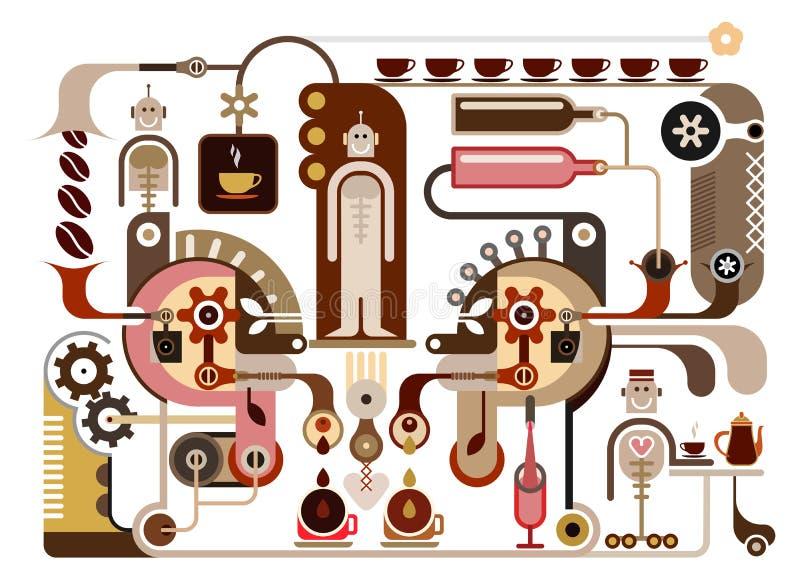 Kaffee-Fabrik lizenzfreie abbildung