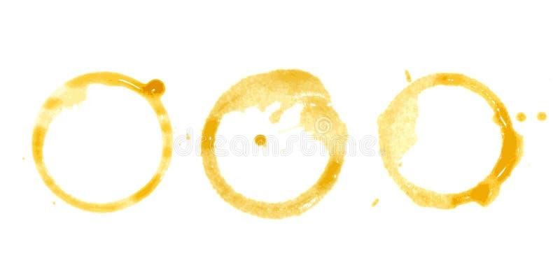 Kaffee-Fleck auf Papierhintergrund vektor abbildung