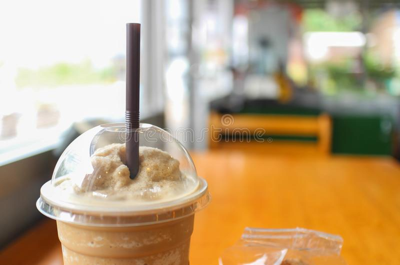 Kaffee Frappe stockfoto
