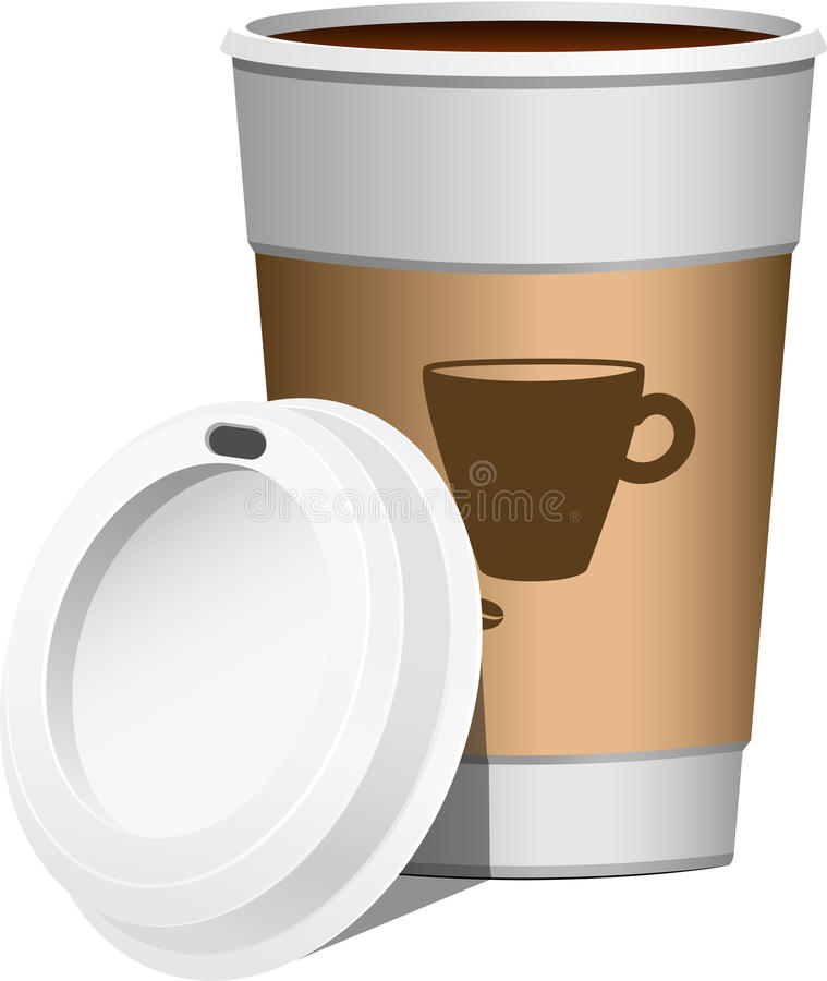Kaffee gehen weiter lizenzfreie abbildung