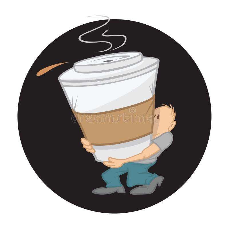 Kaffee groß stock abbildung