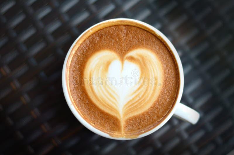 Kaffee latte Kunst stockbilder
