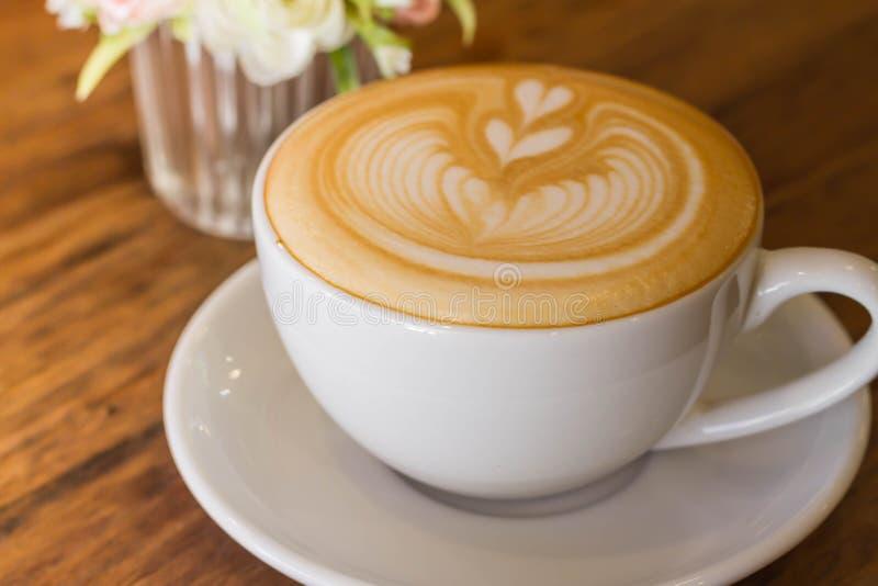 Kaffee Lattekunst stockfoto