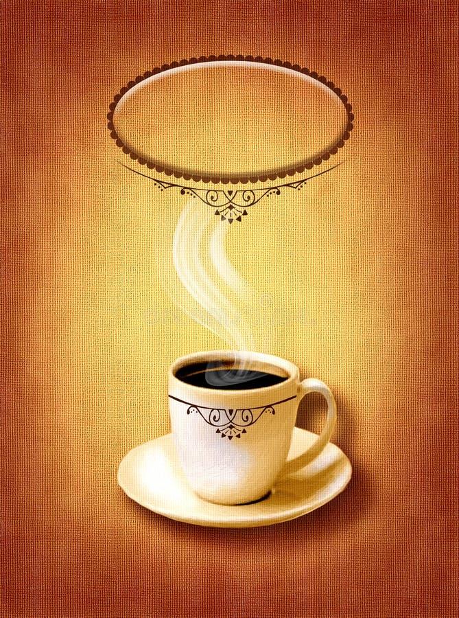 Kaffee-Menü für Restaurant, Café, Bar auf Segeltuchkunst backround lizenzfreie stockfotografie