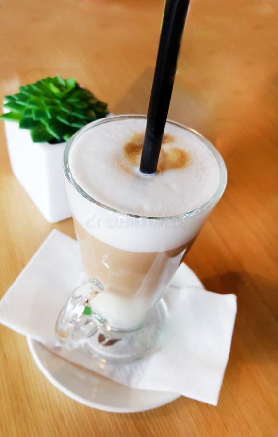 Kaffee mit Creme stockfoto