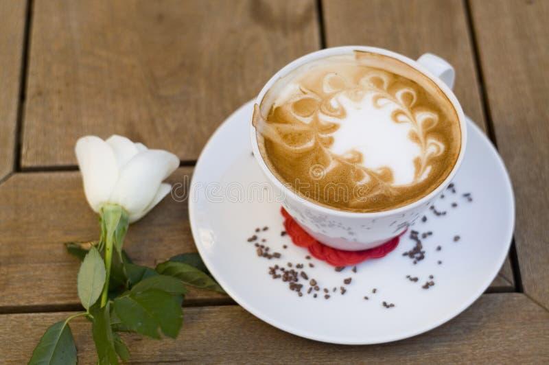 Kaffee mit Cup stockfoto