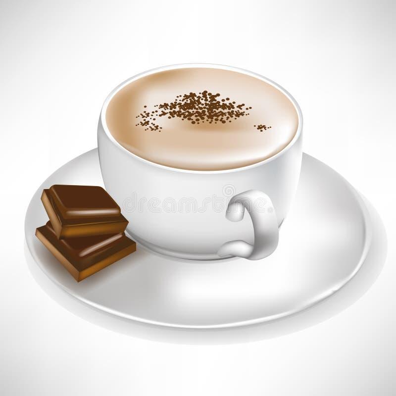 Kaffee mit Schokoladenstücken vektor abbildung