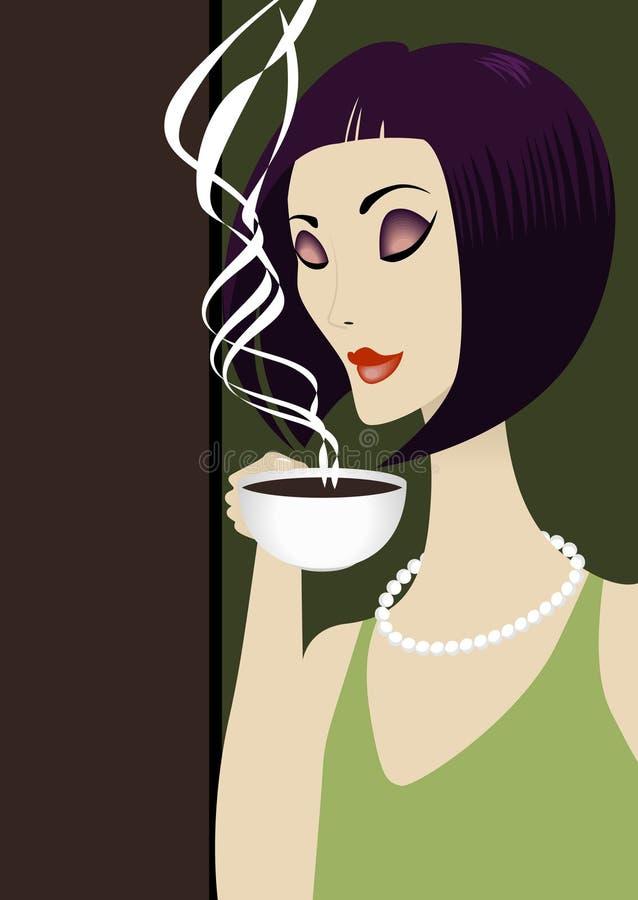Kaffee oder Tee stock abbildung