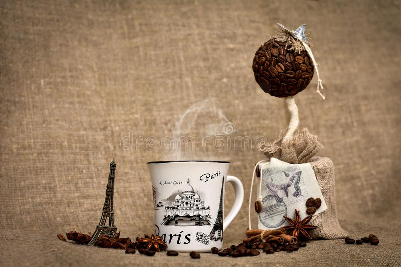 Kaffee in Paris stockbild