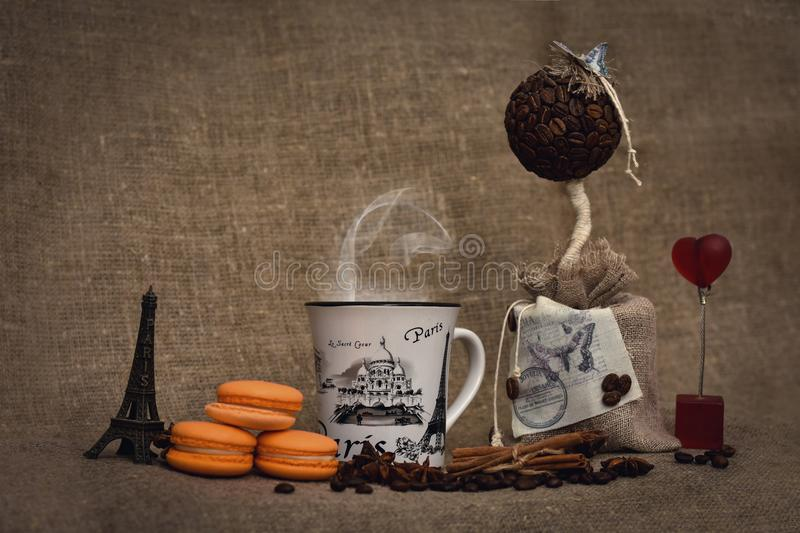 Kaffee in Paris lizenzfreies stockfoto