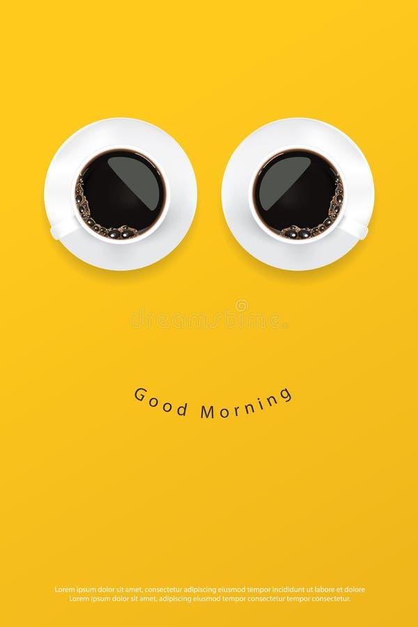 Kaffee-Plakat-Anzeige Flayers stock abbildung