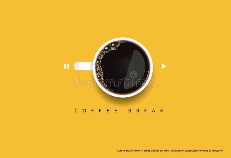Kaffee-Plakat-Anzeige Flayers vektor abbildung