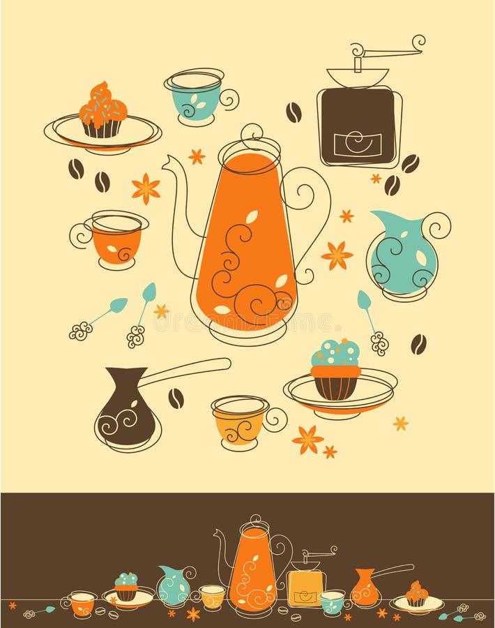 Kaffee-Satz lizenzfreie abbildung