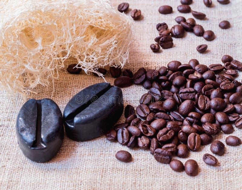 Kaffee-Seife stockfotografie