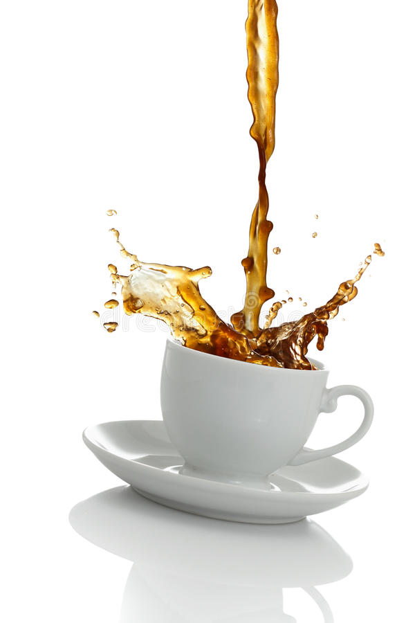 Kaffee-Spritzen stockbild