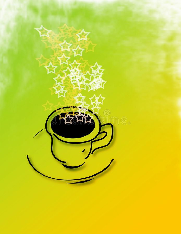 Kaffee-Stern-Qualität lizenzfreie abbildung