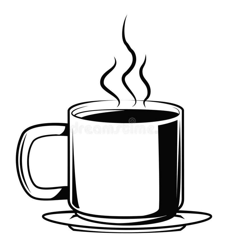 Kaffee-Symbol vektor abbildung. Illustration von dekoration - 47879368