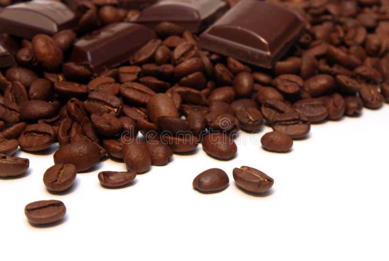 Kaffee und Bonbons stockbilder