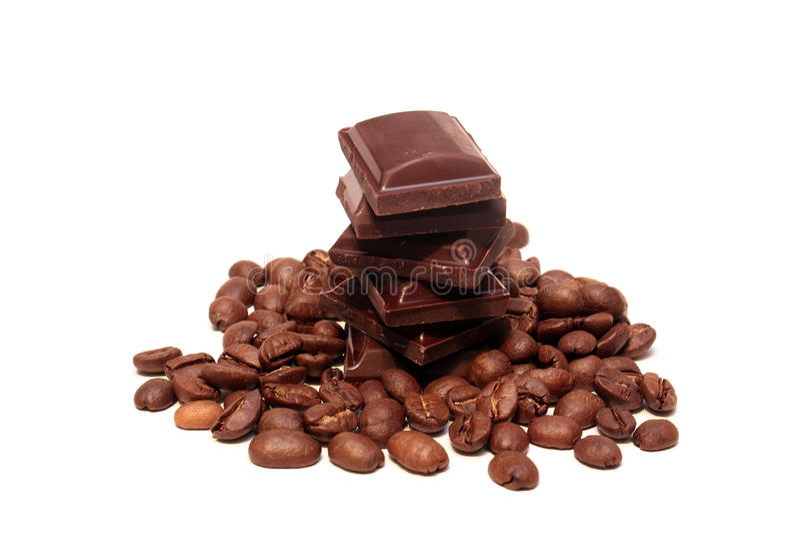 Kaffee und Bonbons lizenzfreie stockbilder