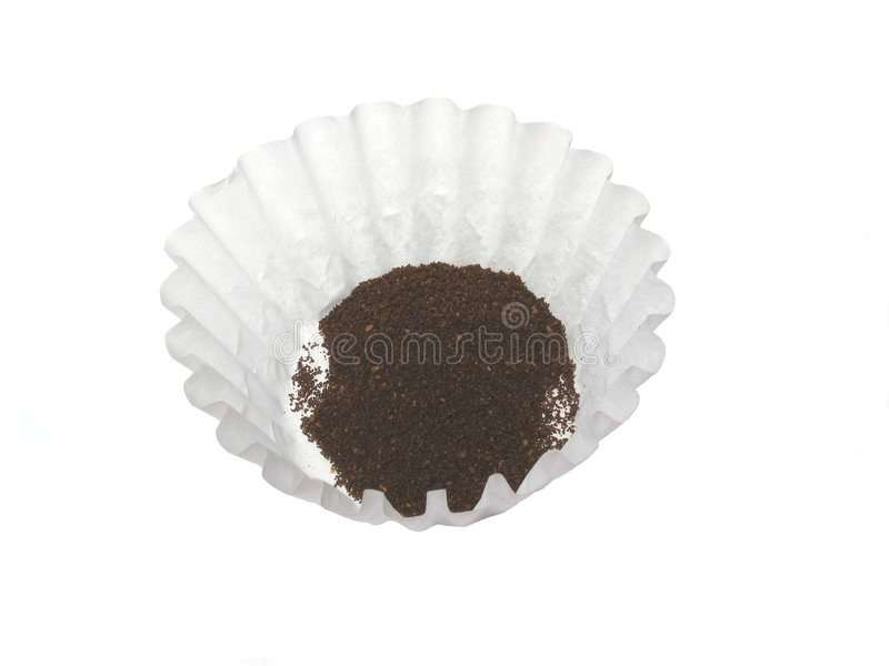 Kaffee und Filter stockfotos