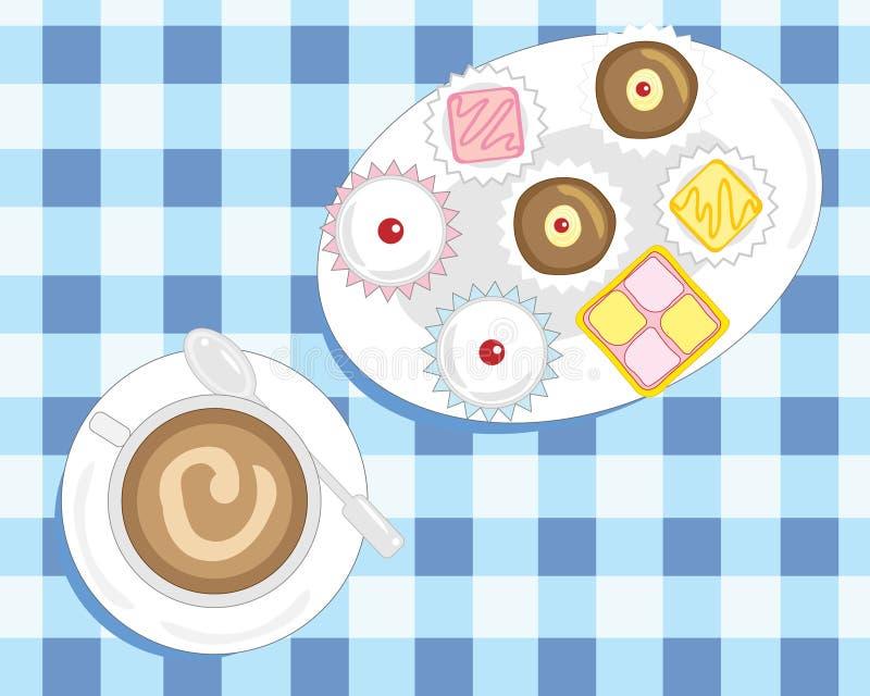 Kaffee und Kuchen vektor abbildung