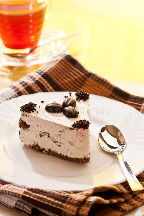 Kaffee und Kuchen lizenzfreie stockfotos
