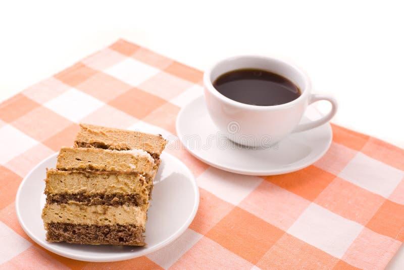Kaffee und Kuchen stockbilder