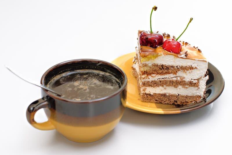 Kaffee und Kuchen stockbild. Bild von imbiß, schokolade ...