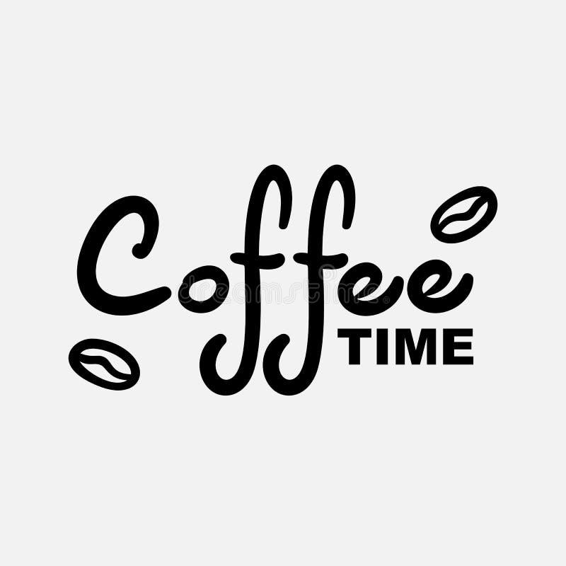 Kaffee und mehr Moderne B?rstenkalligraphie stockbild