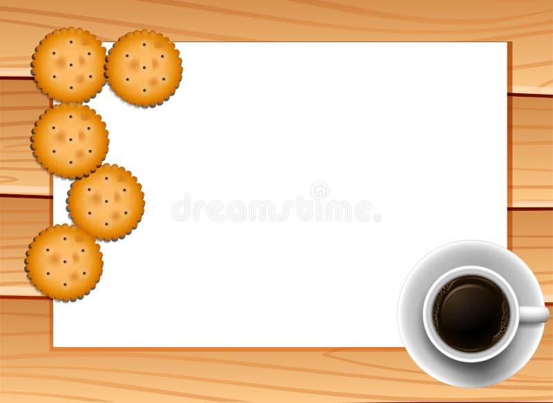 Kaffee und Plätzchen stock abbildung