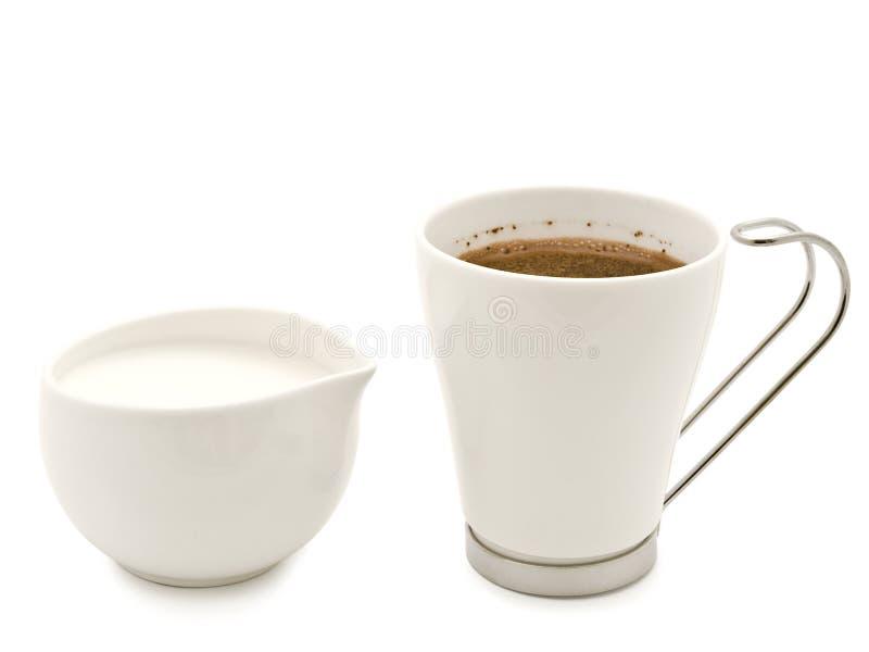 Kaffee und Sahne stockbild