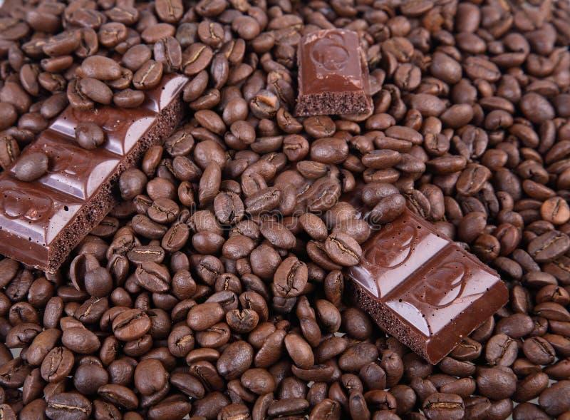 Kaffee und Schokolade stockfotografie