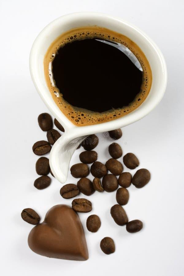 kaffee und schokolade stockfoto bild von kalorien bohnen 6628166. Black Bedroom Furniture Sets. Home Design Ideas