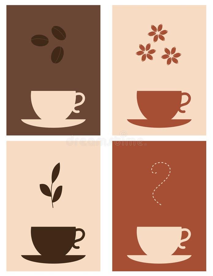 Kaffee und Tee stock abbildung