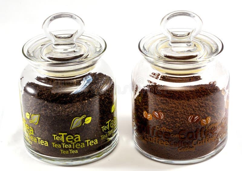 Kaffee-und Tee-Gläser stockfoto
