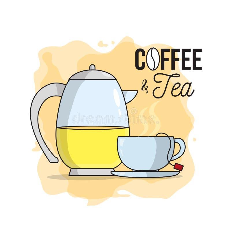 Kaffee- und Teekonzept vektor abbildung